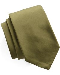 Todd Snyder - Hand Finished Solid Silk Tie In Olive - Lyst