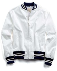 Todd Snyder - Cotton Bomber Jacket In White - Lyst