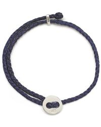 Scosha - Signature 4mm Bracelet In Silver And Indigo - Lyst