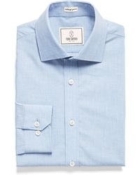 Todd Snyder - Spread Collar Dress Shirt In Solid Blue - Lyst