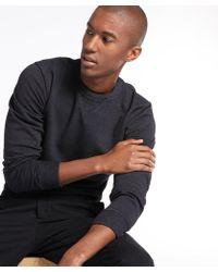 Todd Snyder - Indigo Crew Sweatshirt In Black Indigo - Lyst