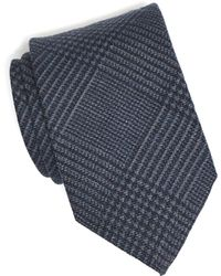 Drake's - Navy Prince Of Wales Plaid Tie - Lyst