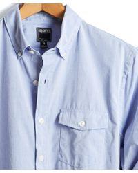 Todd Snyder - Cotton Button-down Collar Shirt In Light Blue - Lyst