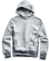 Todd Snyder - Contrast Reverse Weave Popover Hoodie In Light Grey Mix - Lyst