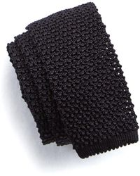 Todd Snyder - Classic Silk Knit Tie In Black - Lyst