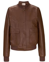 Tod's - Leather Bomber - Lyst