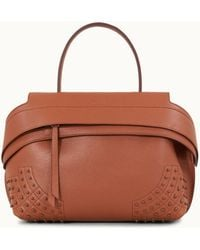 d9cc18e20c8 Tod's Wave Mini Leather Satchel in Brown - Lyst