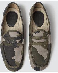 1bc522cec80 Louis Leeman Embellished Camo Slippers - For Men in Green for Men - Lyst