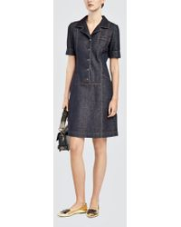 Tomas Maier - Knit Denim Dress - Lyst