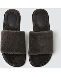 Tomas Maier - Shearling Slide - Lyst