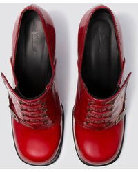 Tomas Maier - Glossy Leather Stacked Heel - Lyst