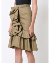 ff26cac1216f TOME - Mermaid Skirt With Front Ruffle - Lyst