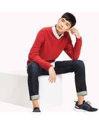 Tommy Hilfiger - Pure Cotton V-neck Jumper - Lyst