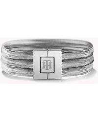 Tommy Hilfiger - Stainless Steel Snake Bracelet - Lyst