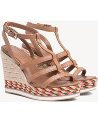 Tommy Hilfiger - Strappy Rope Wedge Sandals - Lyst