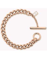 Tommy Hilfiger - Rose Gold-plated Open-link Bracelet - Lyst