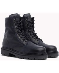 Tommy Hilfiger - Flag Tongue Lace-up Boots - Lyst