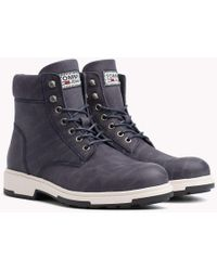 babcd4676 Tommy Hilfiger Light Nubuck Lace-up Boots in Brown for Men - Lyst
