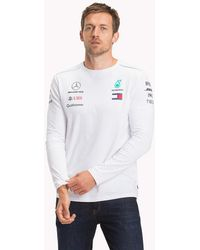 eac883f4c944c Tommy Hilfiger Organic Cotton Long Sleeve Top in White for Men - Lyst