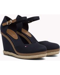 Tommy Hilfiger - Iconic Closed Toe Wedges - Lyst
