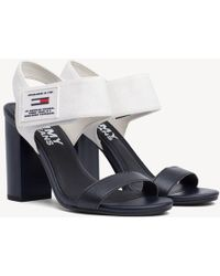 37a9ea1c43ba Tommy Hilfiger - Colour-blocked Heeled Sandals - Lyst
