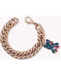 Tommy Hilfiger - Rose Gold-plated Charm Bracelet - Lyst