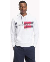 Tommy Hilfiger - Cotton Terry Logo Hoodie - Lyst
