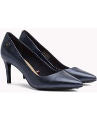 Tommy Hilfiger - Metallic Leather Court Shoes - Lyst