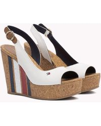 Tommy Hilfiger - Signature Stripe Wedge Sandals - Lyst