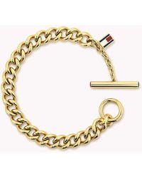 Tommy Hilfiger - Gold-plated Open-link Bracelet - Lyst