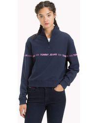 Tommy Hilfiger - Logo Tape Fleece Sweatshirt - Lyst