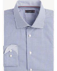 bc4bf805b Tommy Hilfiger Printed Indigo Shirt in Blue for Men - Lyst