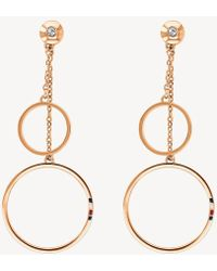 Tommy Hilfiger - Carnation Gold Open Circle Earrings - Lyst