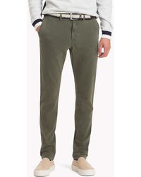 Tommy Hilfiger - Straight Fit Textured Chinos - Lyst