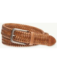 Tommy Bahama - Braided Leather Stretch Belt - Lyst
