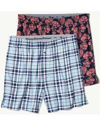 Tommy Bahama - Island Plaid Knit Boxer Set - Lyst
