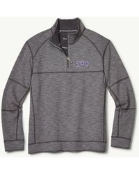 0bd447aef550c Tommy Bahama - Collegiate Sandbar Slub Reversible Half-zip Sweater - Lyst