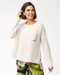 Tommy Bahama - Serena Sequin Pocket Sweater - Lyst