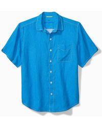 Tommy Bahama - Big & Tall Sea Glass Breezer Linen Camp Shirt - Lyst