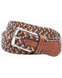 Tommy Bahama - Fabric And Leather Braided Belt - Lyst