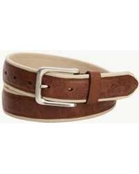 Tommy Bahama | Canvas And Leather Overlay Belt | Lyst