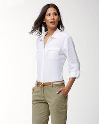 Tommy Bahama - Jute And Leather Belt - Lyst