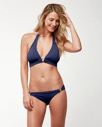 Tommy Bahama - Pearl Halter Bikini Top With Center Ring - Lyst