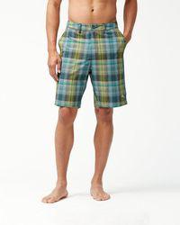 Tommy Bahama - Cayman Prism Plaid 9-inch Hybrid Board Shorts - Lyst