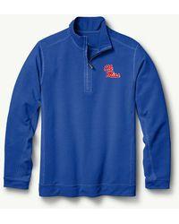 Tommy Bahama - Collegiate Ben & Terry Half-zip Sweatshirt - Lyst
