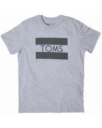 TOMS - Flag Heather Grey Short Sleeve Crew Tee - Lyst