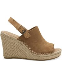 TOMS - Toffee Suede Women's Monica Wedges - Lyst