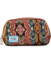 TOMS - Multi Pattern Mix Zip Cosmetic - Lyst