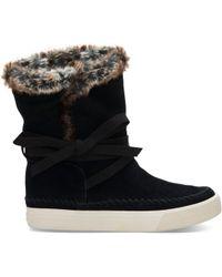 TOMS - Black Suede Women's Vista Boots - Lyst