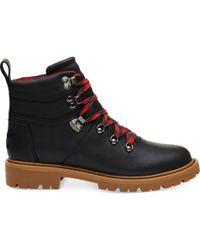 TOMS - Black Leather Weatherproof Women's Summit Boots - Lyst